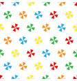 seamless pattern summer beach different colors vector image