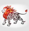 Tribal flame lion vector image