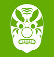 tribal mask icon green vector image