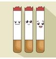 character cigarette comic icon vector image