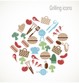 Grilling icons vector image vector image