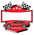 racing car badge club vector image