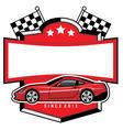 racing car badge club vector image vector image