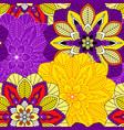 mandala seamless pattern background vector image