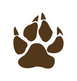 bear paw with claws vector image