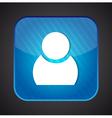 User icon - blue app button vector image