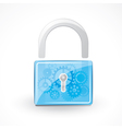 secure padlock vector image vector image