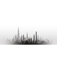 cityscape with fade black vector image