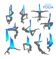 Anti-gravity yoga for women vector image