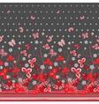 Vertical Seamless spring dark gray floral pattern vector image