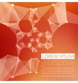 Abstract mesh background Futuristic vector image
