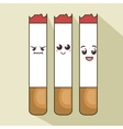 character cigarette comic icon vector image