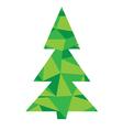 diamond tree green vector image