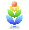 Ear of wheat as a concept logo vector image