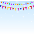 Garland of colored stars and flags vector image