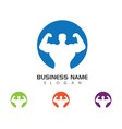 gym badge fitness logo design vector image