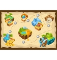 Isometric Levels Game Islands Composition vector image