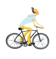 Man on a bicycle vector image