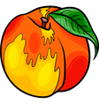 peach fruit cartoon vector image