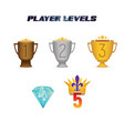 player levels vector image