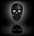 Skull with shadow vector image
