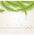 template of greeting card with a fir tree vector image