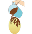 The factory of Easter eggs vector image