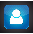User icon - blue app button vector image