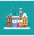 Winter City Background vector image