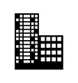 silhouette buildings and city scene line sticker vector image