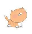 cute redhead kitten cat cartoon character vector image