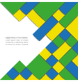 Abstract geometric background in Brazil flag color vector image vector image