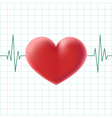 pulse heart on a screen vector image vector image