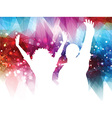 Abstract party people background vector image vector image