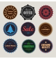 collection of vintage round badges vector image