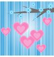 love heart romantic vector image vector image