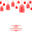 valentine gift hang red vector image
