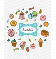 Cute collection of hand drawn sweets and desserts vector image vector image