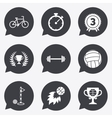Sport games fitness icon Bike basketball vector image