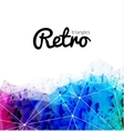 Abstract retro triangular background colorful vector image