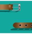 Brown leather belt vector image