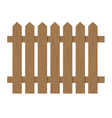 brown wooden fence vector image