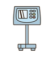 cartoon weight scale cargo delivery vector image