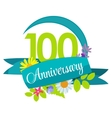 Cute Nature Flower Template 100 Years Anniversary vector image