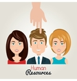 hand icon human resources choose person vector image
