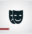 mask icon theater vector image
