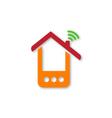 Orange phone house vector image