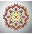 Ornamental round geometric pattern in latin vector image