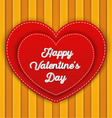 Double red heart with Happy Valentines Day word vector image