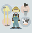 farmer isolated vector image